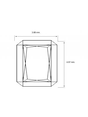 Radiant Shape 0.36 Carat SI1 Clarity Enhanced Diamond