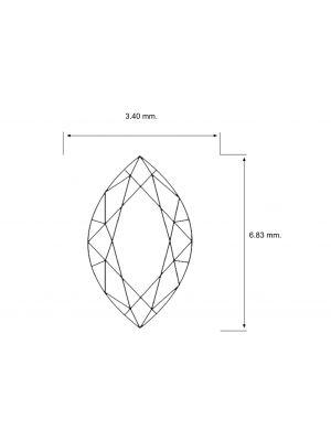 Marquise Shape 0.25 Carat VS2 Clarity Enhanced Diamond