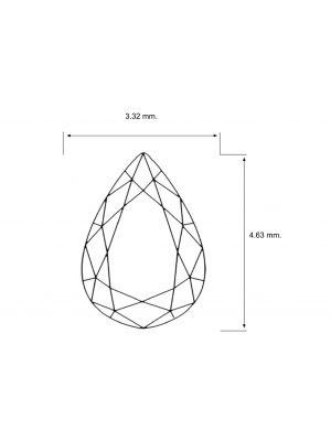 Pear Shape 0.18 Carat VS2 Clarity Enhanced Diamond