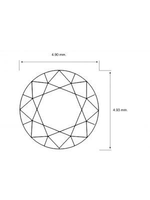 Round Shape 0.49 Carat SI3 Clarity Enhanced Diamond