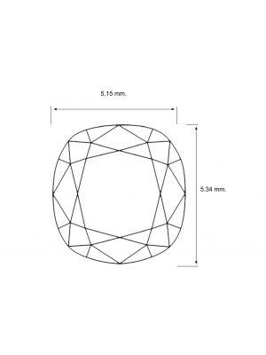 Cushion Shape 0.73 Carat VVS2 Clarity Enhanced Diamond
