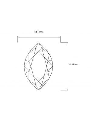 Marquise Shape 1.36 Carat SI1 Clarity Enhanced Diamond