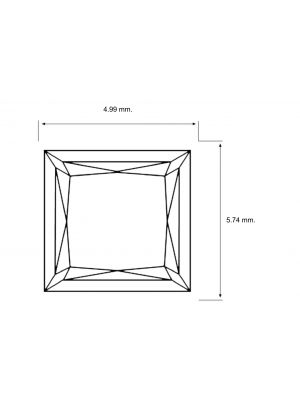 Prince Shape 0.91 Carat SI1 Clarity Enhanced Diamond