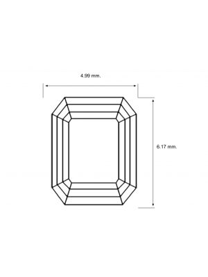 Emerald Shape 0.86 Carat VS2 Clarity Enhanced Diamond