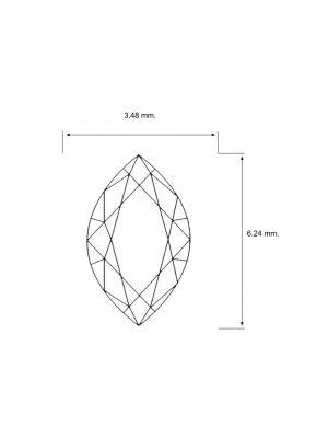 Marquise Shape 0.28 Carat VS2 Clarity Enhanced Diamond