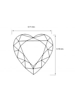 Heart  Shape 0.56 Carat SI1 Clarity Enhanced Diamond