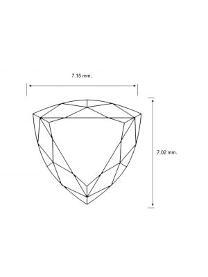 Trillion Shape 0.89 Carat VS2 Clarity Enhanced Diamond