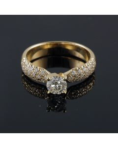 14K-18K Yellow Rose Or White Gold Engagement Ring