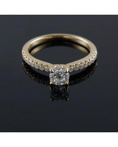 14K/18K Yellow Rose Or White Gold Engagement Ring