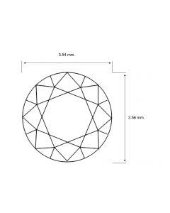 Round Shape 0.18 Carat I1 Clarity Enhanced Diamond